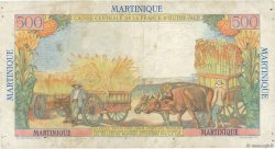 500 Francs Pointe à Pitre MARTINIQUE  1949 P.32 TB