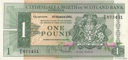 1 Pound ÉCOSSE  1961 P.195a pr.NEUF