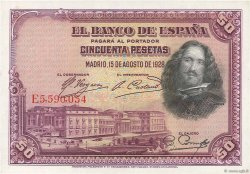 50 Pesetas ESPAGNE  1928 P.075b pr.NEUF