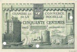 50 Centimes FRANCE régionalisme et divers LA ROCHELLE 1915 JP.066.02 SPL