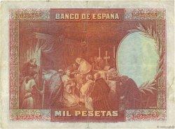 1000 Pesetas ESPAGNE  1928 P.078a TTB
