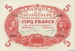 5 Francs Cabasson rouge GUADELOUPE  1945 P.07e pr.NEUF