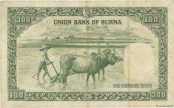 100 Rupees BIRMANIE  1953 P.45 TB+