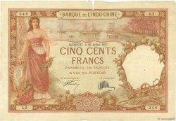 500 Francs DJIBOUTI  1927 P.09a B