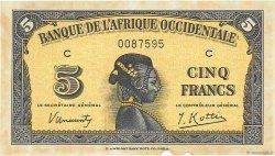 5 Francs type 1942 AFRIQUE OCCIDENTALE FRANÇAISE (1895-1958)  1942 P.28a SUP+
