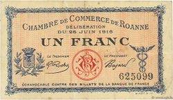 1 Franc FRANCE régionalisme et divers Roanne 1915 JP.106.02 TTB