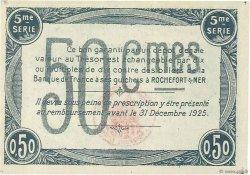 50 Centimes FRANCE régionalisme et divers ROCHEFORT-SUR-MER 1920 JP.107.17 NEUF