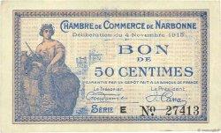 50 Centimes FRANCE régionalisme et divers NARBONNE 1915 JP.089.03 SUP
