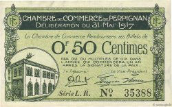 50 Centimes FRANCE régionalisme et divers PERPIGNAN 1917 JP.100.21 SPL
