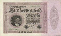 100000 Mark ALLEMAGNE  1923 P.083a