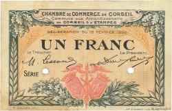 1 Franc FRANCE régionalisme et divers CORBEIL 1920 JP.050.04 TTB à SUP