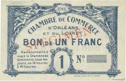1 Franc FRANCE régionalisme et divers Orléans 1918 JP.095.02 SUP
