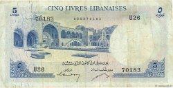 5 Livres LIBAN  1955 P.56a TB
