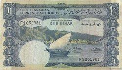 1 Dinar YÉMEN RÉPUBLIQUE DÉMOCRATIQUE  1965 P.03b TB