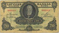 20 Latu LETTONIE  1925 P.17a TB