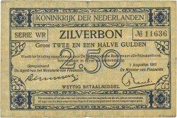 2.5 Gulden PAYS-BAS  1917 P.011 TB