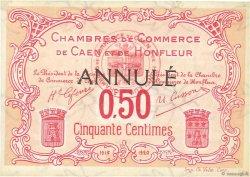 50 Centimes FRANCE régionalisme et divers CAEN ET HONFLEUR 1918 JP.034.13 pr.NEUF