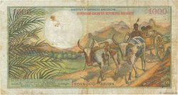 1000 Francs - 200 Ariary MADAGASCAR  1966 P.59 TB+