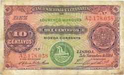 10 Centavos MOZAMBIQUE  1914 P.059 TTB