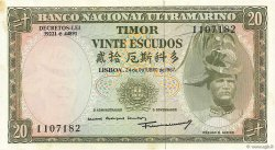 20 Escudos TIMOR  1967 P.26a pr.NEUF