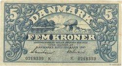 5 Kroner DANEMARK  1943 P.030k TTB