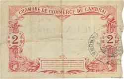 2 Francs FRANCE régionalisme et divers Cambrai 1914 JP.037.13 TTB+