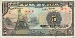 5 Bolivianos BOLIVIE  1911 P.106a TTB