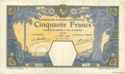 50 Francs DAKAR AFRIQUE OCCIDENTALE FRANÇAISE (1895-1958)  1929 P.09Bc TTB