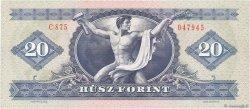 20 Forint HONGRIE  1975 P.169f NEUF
