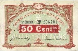 50 Centimes FRANCE régionalisme et divers Orléans 1917 JP.095.16 SPL