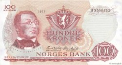 100 Kroner NORVÈGE  1977 P.38h SUP