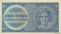 1 Koruna TCHÉCOSLOVAQUIE  1938 P.027a SUP