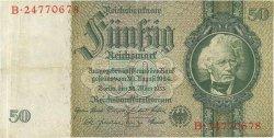50 Reichsmark ALLEMAGNE  1933 P.182a TTB