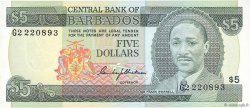 5 Dollars BARBADE  1975 P.32a NEUF