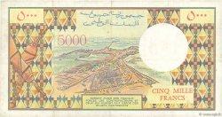 5000 Francs DJIBOUTI  1991 P.38c TTB