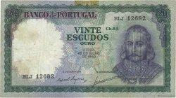 20 Escudos PORTUGAL  1960 P.163 TTB