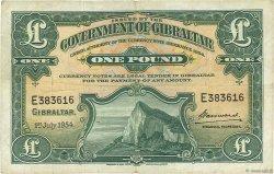 1 Pound GIBRALTAR  1954 P.15c TB à TTB