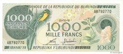 1000 Francs BURUNDI  1991 P.31d NEUF