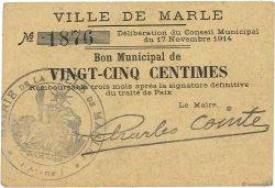 25 Centimes FRANCE régionalisme et divers MARLE 1914 JP.02-1437 TTB