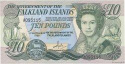 10 Pounds ÎLES FALKLAND  1986 P.14a NEUF