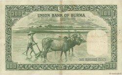 100 Rupees BIRMANIE  1953 P.45 TTB