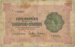 5 Rupees SEYCHELLES  1954 P.11a TB