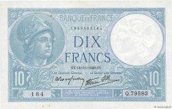 10 Francs MINERVE modifié FRANCE  1940 F.07.20 SUP