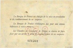 50 Centimes FRANCE régionalisme et divers DIEPPE 1918 JP.052.01 TTB+