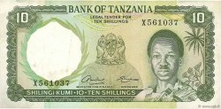 10 Shillings TANZANIE  1966 P.02a