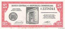 25 Centavos Oro RÉPUBLIQUE DOMINICAINE  1961 P.087a pr.NEUF