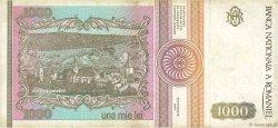 1000 Lei ROUMANIE  1991 P.101A TTB