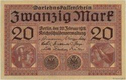 20 Mark ALLEMAGNE  1918 P.057 pr.NEUF