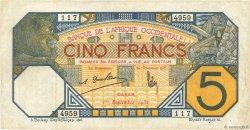 5 Francs DAKAR AFRIQUE OCCIDENTALE FRANÇAISE (1895-1958) Dakar 1932 P.05Bf TTB
