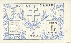 1 Franc NOUVELLE CALÉDONIE  1943 P.55a SUP